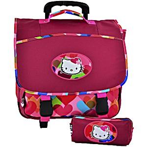 Школьный портфель на колесах Hello Kitty арт. HPS23070R