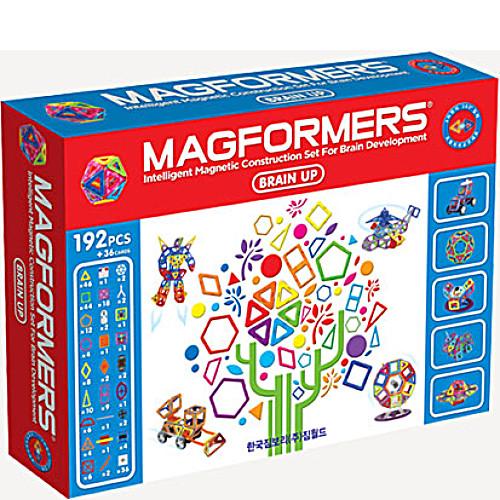 Магнитный конструктор Магформерс Брейн Ап 192 детали артикул 63083