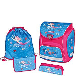 Школьный ранец Herlitz Sporti Plus Mermaidia с наполнением 4 предмета